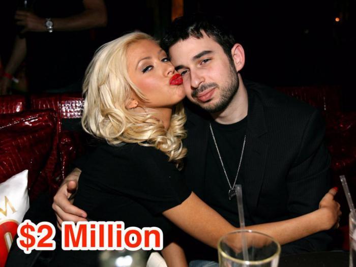 10-Christina Aguilera and Jordan Bratman