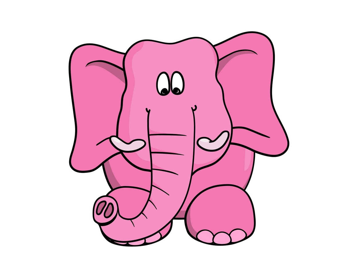 QQ Wallpapers: Cartoon elephant pictures