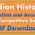 Indian History Questions and Answers for Competitive Exams PDF 100+ History Asked Questions In SSC
