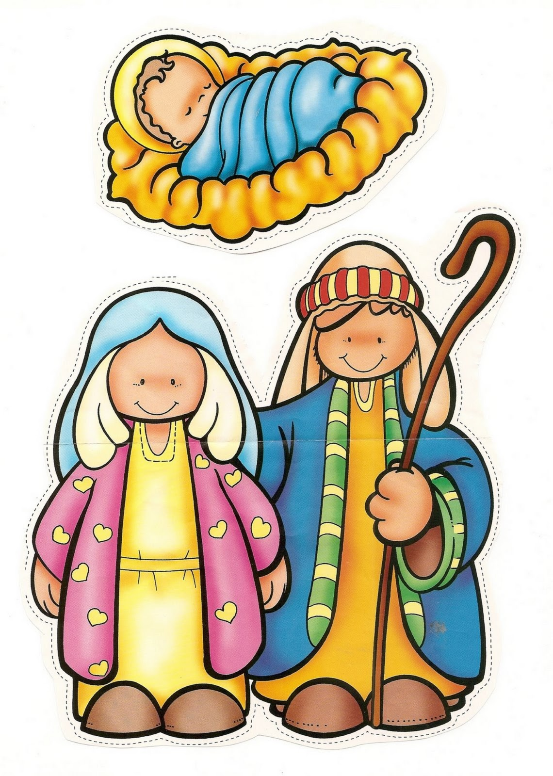 Personagens De Presepio Para Recortar E Montar Atividade De Natal