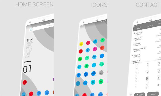 Android P Mono Grey Theme