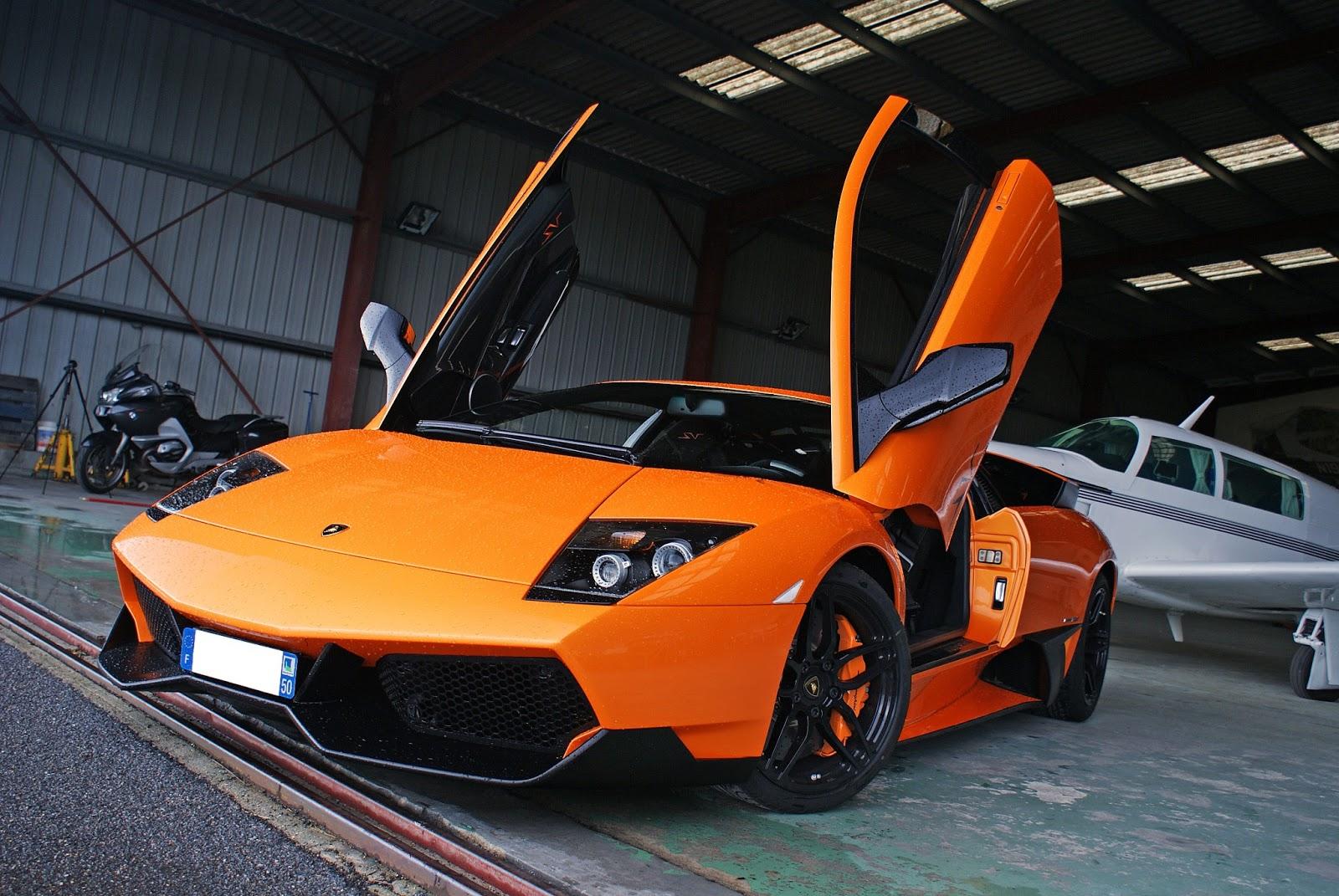 Luxury Lamborghini Cars: Orange Lamborghini Murcielago ...