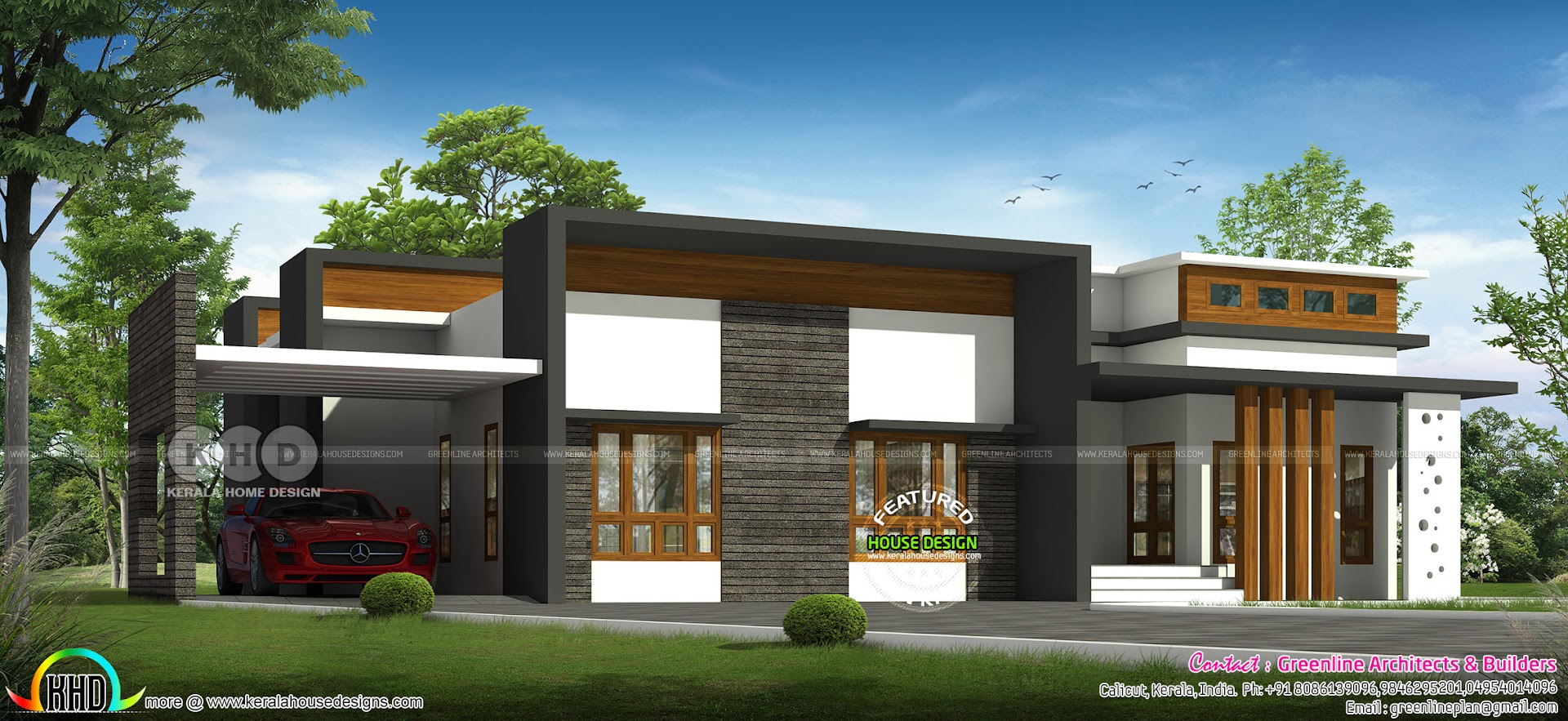 wide single storied home july17 2018 - 46+ Modern Single Floor House Plans Kerala Style Pictures