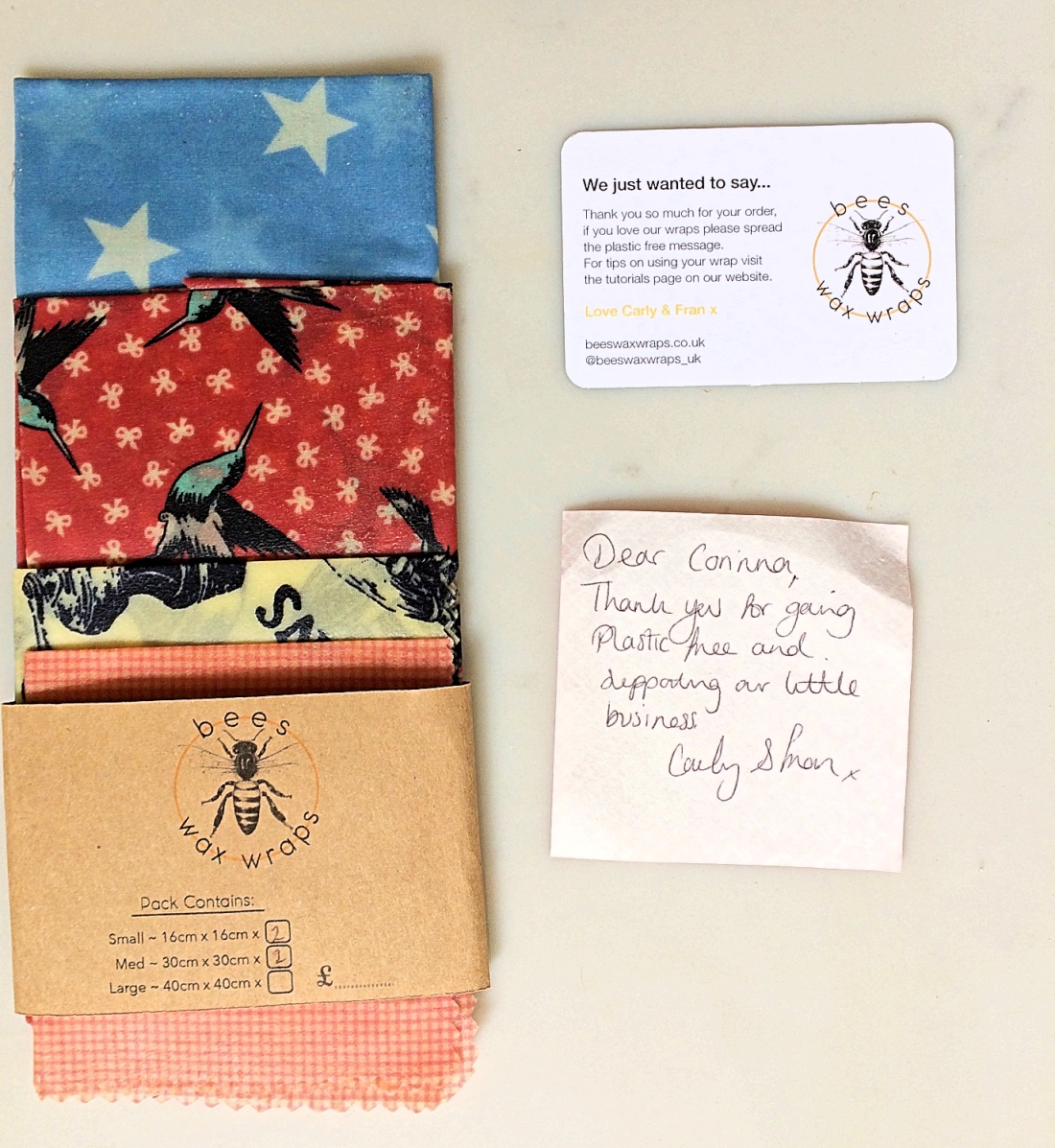 Beeswax Wraps   Blue Sky and Bunting