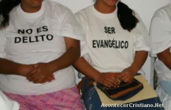 No es delito ser evangélico