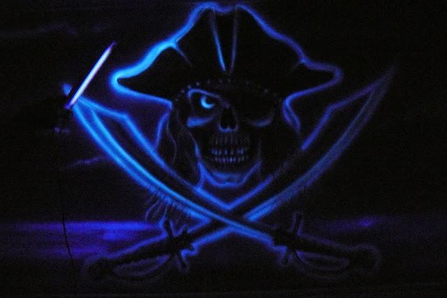 Malowanie obrazu farbami uv, obrazy 3D świecące w ciemnościach, warszawa, aranżacja kręgielni