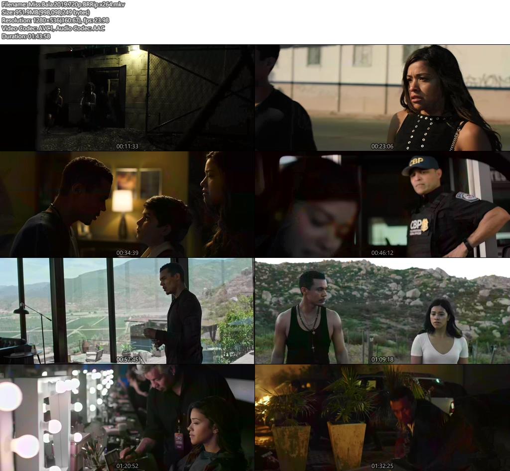 Miss Bala 2019 720p BRRip x264 | 480p 300MB | 100MB HEVC Screenshot