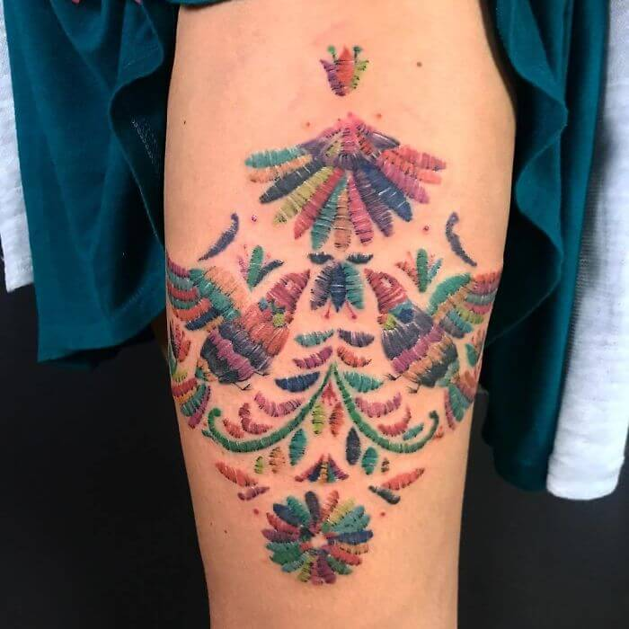 30 Stunning Pictures Of Embroidery Tattoos