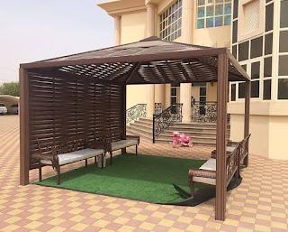 تركيب مظلات خارجية في الحدائق وللمنازل