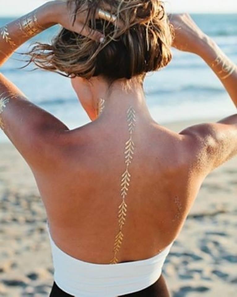Cosmetologyandfitness Wakacyjne Tatuaże Złoto Srebro Czerń