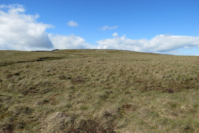 An expanse of moorland below blue skies.