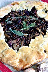 Wild Mushroom Galette with Fresh Herbs and Ricotta Cheese (GF)