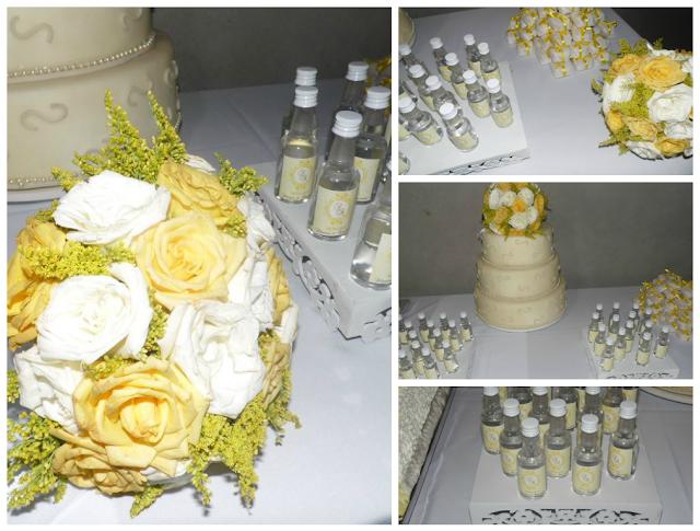 Casamento Amarelo e Branco - Lembrancinhas