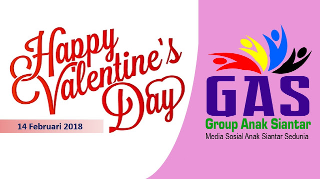 Cover Group Facebook GAS di Hari Kasih Sayang (Valentine's Day), Rabu (14/2/2018)