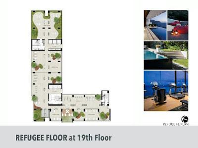 Floor plan evencio, floor plan apartemen, Lantai 19