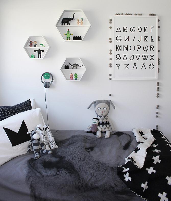 habitacion infantil blanco y negro comprar