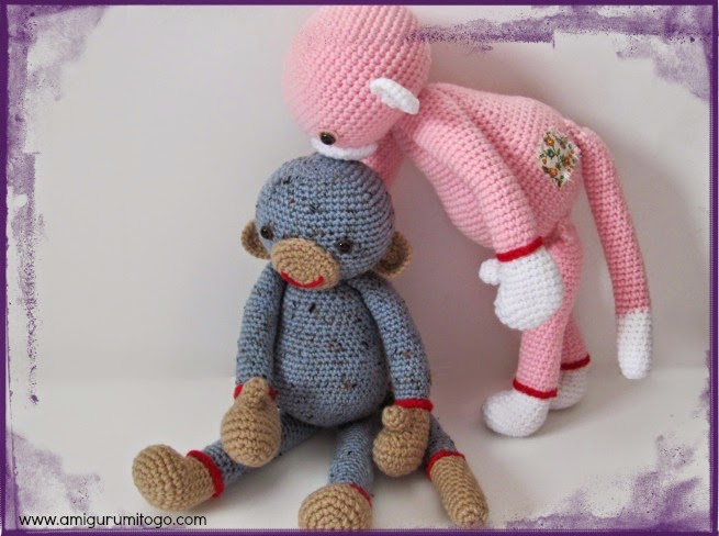 Amigurumitogo Sock Monkey : Monkey video tutorial amigurumi to go