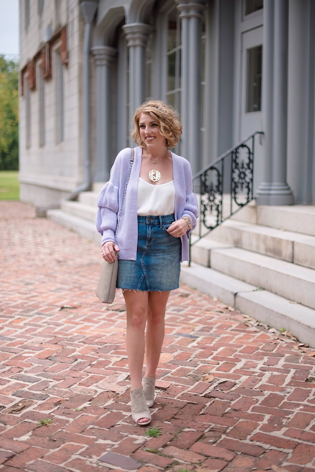 How to style a denim skirt - Something Delightful Blog (click through for the full post)