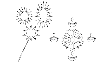 Diwali Drawings for Competition