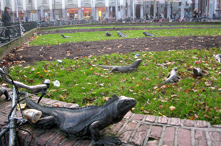 42 Of The Most Beautiful Sculptures In The World - Iguana Park, Amsterdam, The Netherlands
