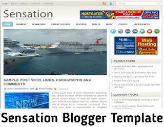 Sensation Blogger Template