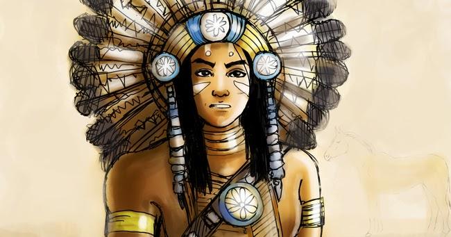 Dibujo Digital : El Guerrero Apache