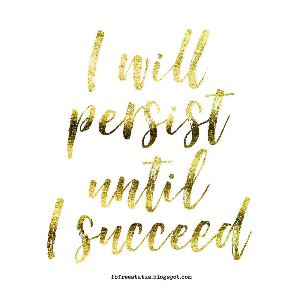 I will persist until is succeed.