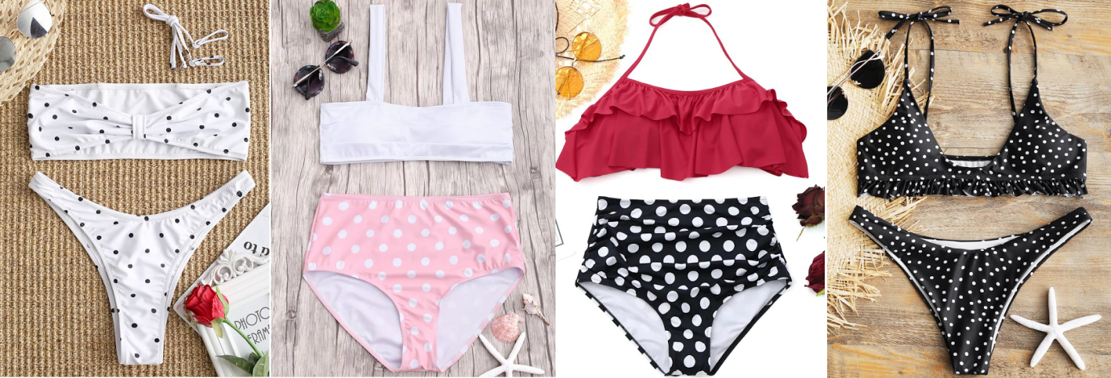 POLKADOT SWIMSUITS