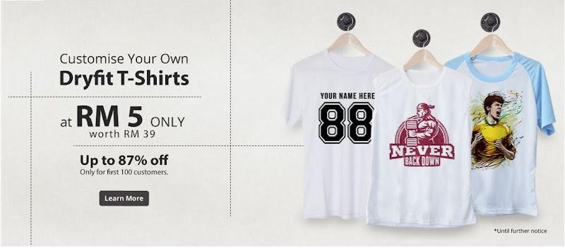 Design T-shirt Sendiri Dengan Harga RM5?