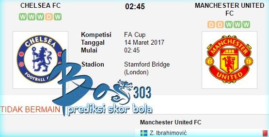 Chelsea vs Manchester United 14 Maret 2017 - Netterku.com