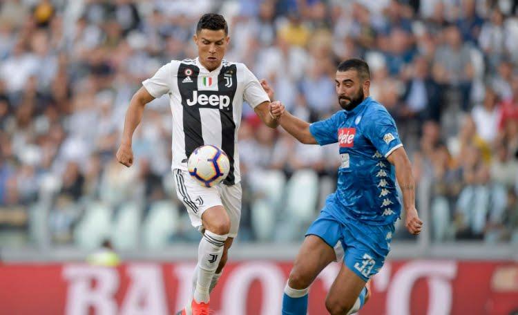 Juventus-Napoli 3-1: spettacolo a Torino con un super CR7 Cristiano Ronaldo.