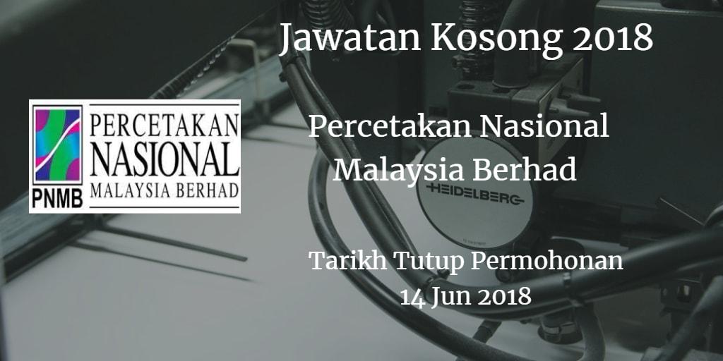Jawatan Kosong PNMB 14 Jun 2018