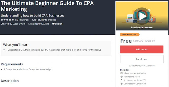 [100% Off] The Ultimate Beginner Guide To CPA Marketing| Worth 104,99$