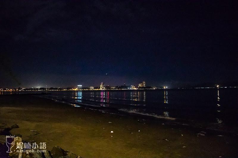 【沙巴亞庇新景點】 里卡士灣大排檔美食。丹絨亞路夜市三色果汁烤雞翅