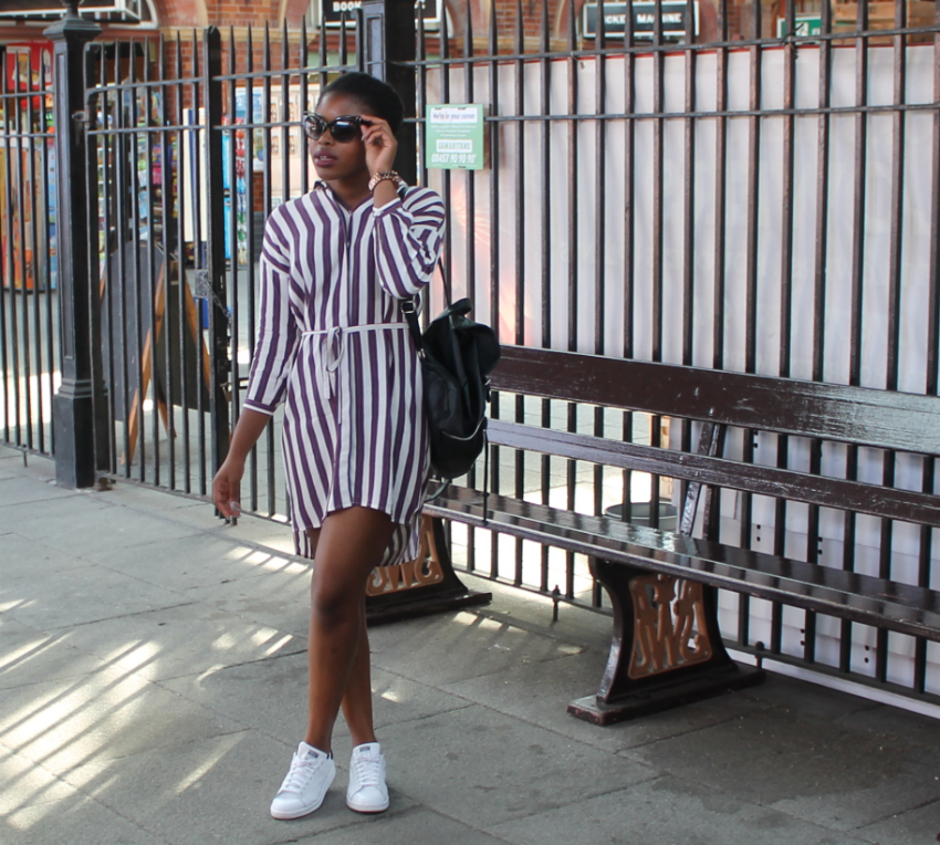 how to style the shirt dress marthadahhling