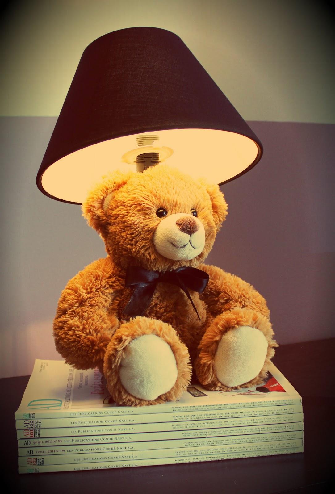 divin 39 id le blog d co lampe enfant teddy bear r alisation divin 39 id teddy bear lamp children. Black Bedroom Furniture Sets. Home Design Ideas