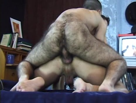 young hairy men shower