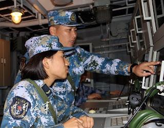 Entrenamiento en el mar de China Meridional