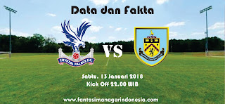 Data dan Fakta Fantasy Premier League Crystal Palace vs Burnley Fantasi Manager Indonesia