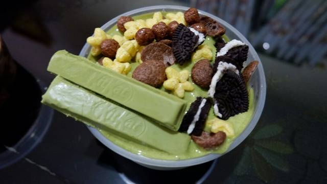 Langkah Membuat Resep Es Kepal Greentea Matcha Homemade
