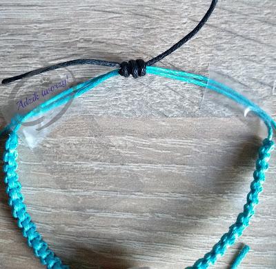 DIY bransoletka ze sznurka z regulacją na supełek