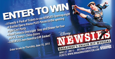 Boston Newsies Opening Night Giveaway