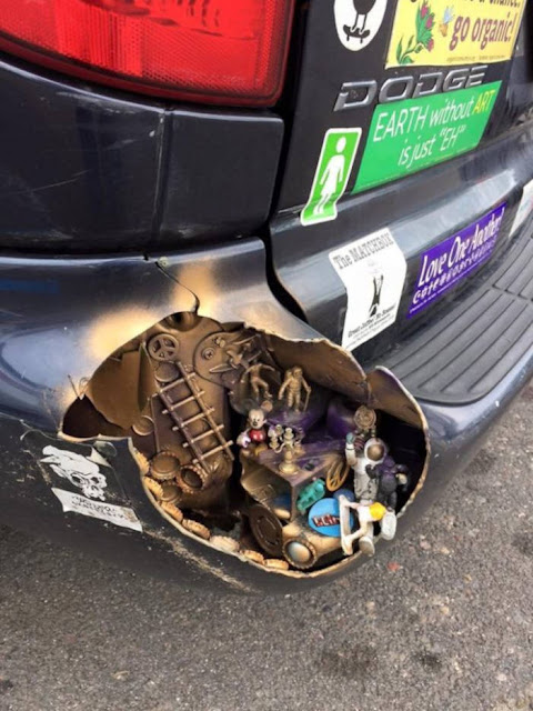 Super Kreatif, Ketika Mereka Berhasil Mengubah Kerusakan Pada Bagian Mobil Menjadi Hal Positif