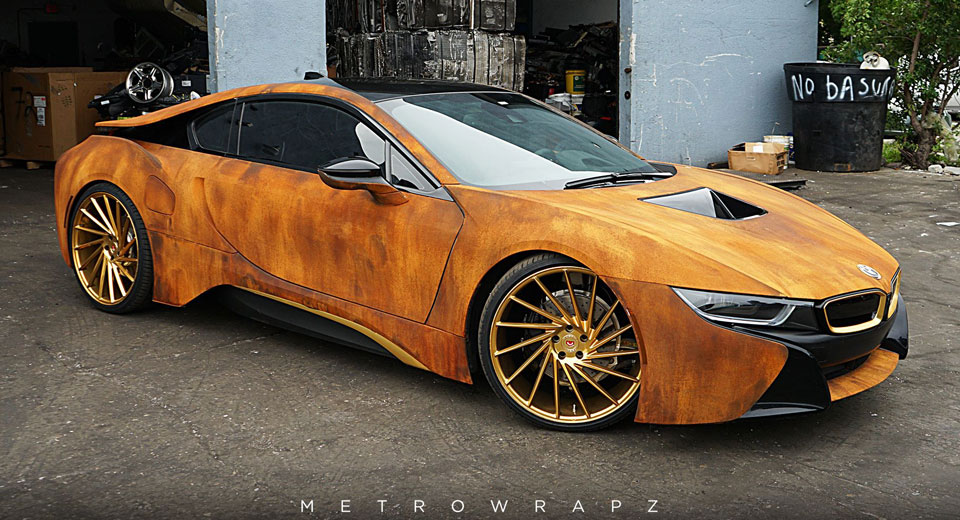 This Rust Wrapped Bmw I8 Will Either Please Or Disgust You