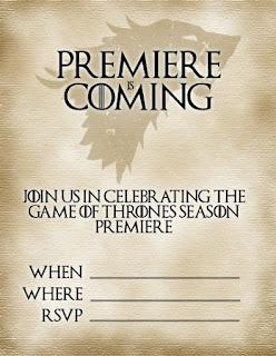 Game of Thrones Free Printable Mini Kit.