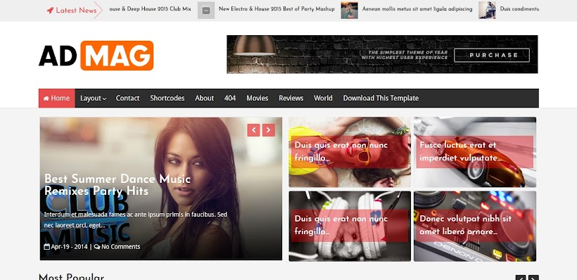 Ad Mag Free Blogger Template