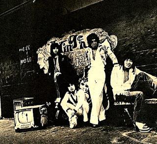 Vodka Collins original lineup circa 1972, left to right Alan Merrill, Take Yokouchi, Hiroshi Oguchi, Monsieur Hiroshi Kamayatsu.(Vodka Collins)