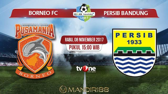 Borneo FC tak mau membuang peluang untuk meraih poin tepat dikala menjamu Persib Bandung Berita Terhangat Prediksi Bola : Pusamania Borneo FC Vs Persib Bandung , Rabu 08 November 2017 Pukul 15.00 WIB @ TVONE