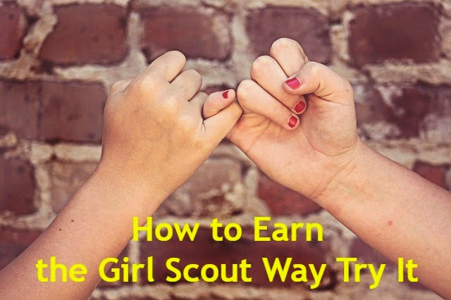 How to Earn the Girl Scout Way Try It