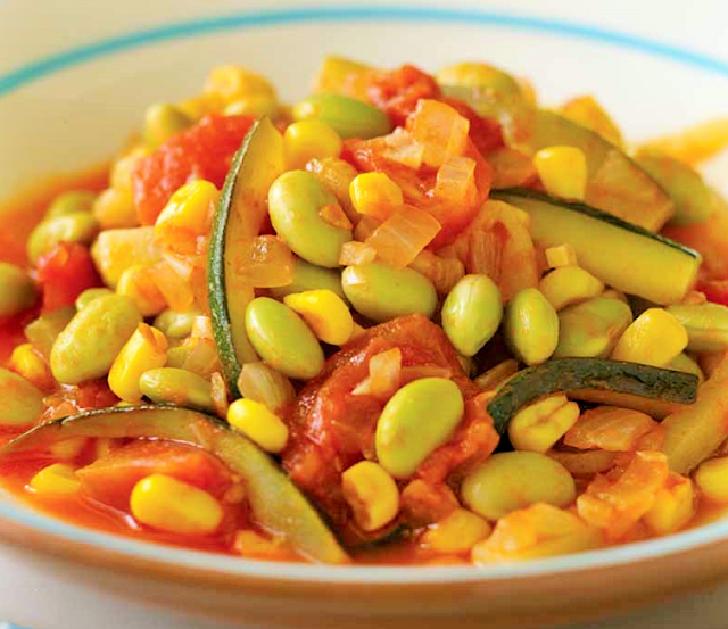 Edamame stew (green soybeans) recipe